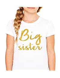 Queen Apparel- Big Sister shirt-soft 100% cotton girls fitted shirt white
