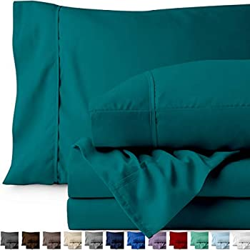Bare Home Queen Sheet Set - 1800 Ultra-Soft Microfiber Bed Sheets - Double Brushed Breathable Bedding - Hypoallergenic - Wrinkle Resistant - Deep Pocket (Queen, Emerald)