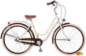 Bicicleta holandesa para mujer 3-velocidades 71,12 cm Swing crema ...