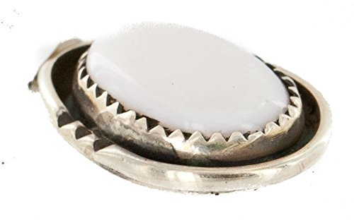 Mop Native ($70 Tag Handmade Certified Authentic Silver Navajo Natural MOP Native American Pendant 16088-9)