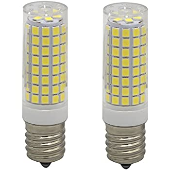 Szulight E17 Led Bulb for Microwave Oven Appliance, 60W Halogen Bulb Equivalent, Pack of 2 (Daylight White 6000K)