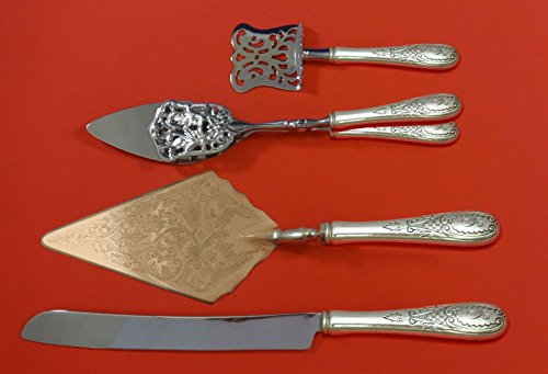 - Windsor Castle by Tuttle Sterling Silver Dessert Serving Set 4pc Custom Made