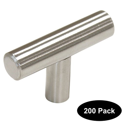 200 pack 2 inch Length Stainless Steel Kitchen Cabinet Door Handles and Pulls Single Hole Cabinet Knobs 50mm Brushed Nickel by Home Building Store