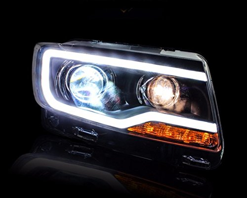 GOWE Car Styling for JEEP Compass 2011-2015 LED Headlight for Compass Head Lamp LED Daytime Running Light LED DRL Bi-Xenon HID Color Temperature:4300K;Wattage:55K 0