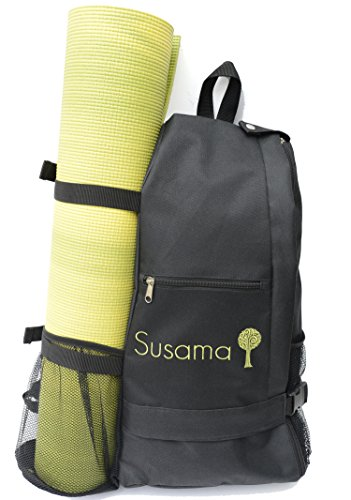Yoga & gym backpack: Adjustable crossbody sling yoga bag - Fits Most Large Yoga Mats - Best for hot yoga, pilates, workout, sport, hiking, cycling, biking, exercise, walking & travel.