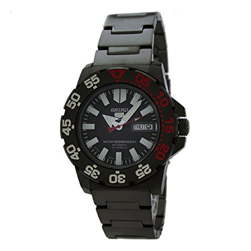 Seiko 5 Sports Gents Automatic Watch, Black Finish - SNZF53J1 (Made in Japan)