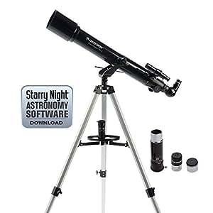 Celestron 21036 PowerSeeker 70AZ Telescope (Black)