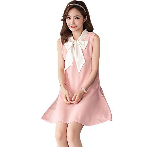 da Elegante incinte all'aperto senza Allattamento Rosa Vestito per Maniche Donna ZEVONDA q74x66