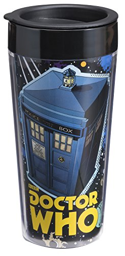 Doctor Who Travel Mug (Vandor 16051 Doctor Who 16 oz Plastic Travel Mug,)