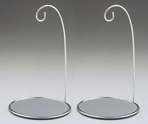 Silver Christmas Ornament Stand Mirrored Bottom 8