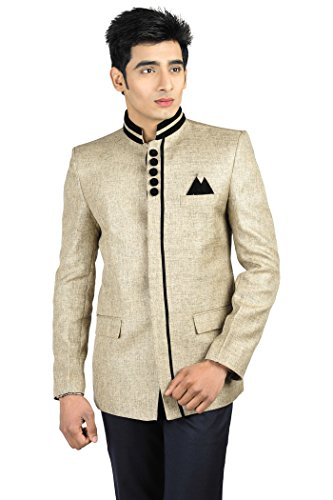 Wintage - Blazer - Uni - Col Tunisien - Manches Longues - Homme -  Or - S
