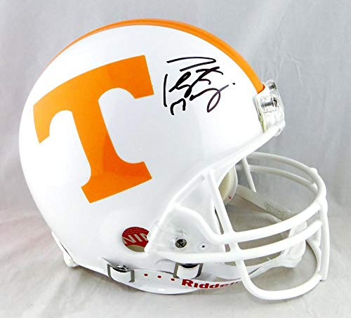 Peyton Manning Autographed Tennessee Volunteers F/S Authentic Helmet -Fanatics Auth Black