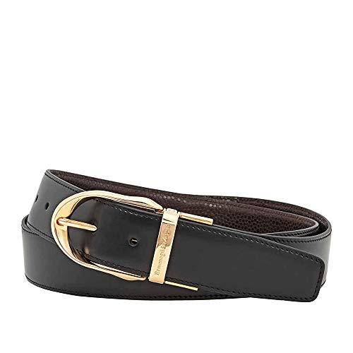 Ermenegildo Zegna Reversible XXL Leather Belt - Black/Brown- 43