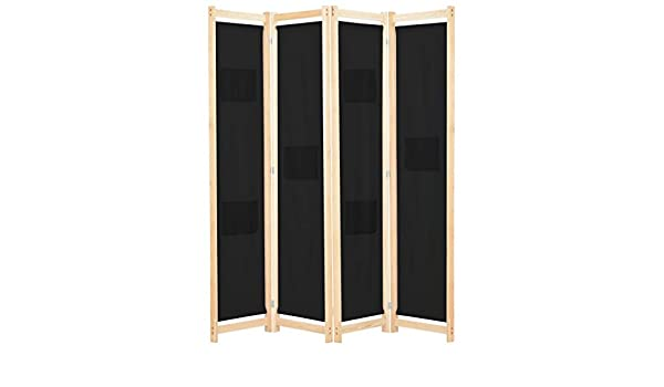 Reverso Divisor de ambientes con 4 Paneles, biombo autoportante con Marco de Madera, también como Panel Privado, para Dormitorio o salón, Negro 160 x 170 x 4 cm de Tela: Amazon.es: Electrónica