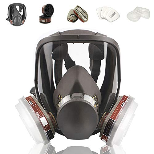 Full Face Respirаtor Reusable, Gas Cover Organic Vapor Respirаtor, Compatible with P100 Filter, Protection for Painting, Machine Polishing, Welding, Same as 6000 7800 FF-400 6000DIN V-Series