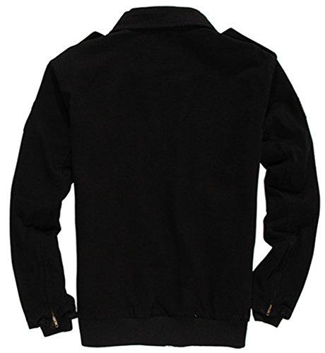 hombre Black YYZYY Blusa 336 para Chaqueta p66tgn0Z