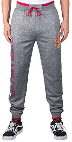 UNK NBA Adult Men Jogger Pants Active Basic Bounce Fleece Sweatpants, Charcoal, X-Large