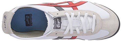 Red white Unisex adulto 0126 Basse fiery Da Scarpe Mexico Multicolore Ginnastica 66 Sneakers Asics F8cwPgqCO0