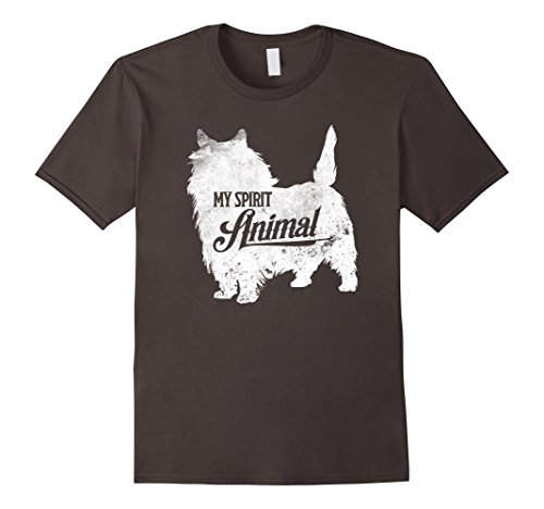 Mens Cairn Terrier Spirit Animal T-Shirt Cute Dog Trainer Gifts 2XL Asphalt