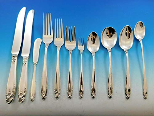 (Prelude by International Sterling Silver Flatware Set Dinner Service 145 pieces)