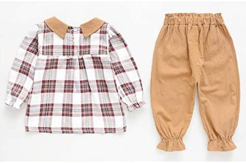 Deloito Kleinkind Bluse Kinder Babykleidung M/ädchen Plaid Gedruckt Langarm T-Shirt Tops einfarbige Pluderhosen Outfits