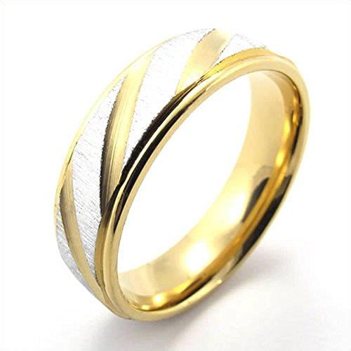 [AnaZoz Jewelry Gold Silver Polishing Stainless Steel Wedding Band Unisex Mens Womens Ring Size 8] (Female Ringleader Costume)
