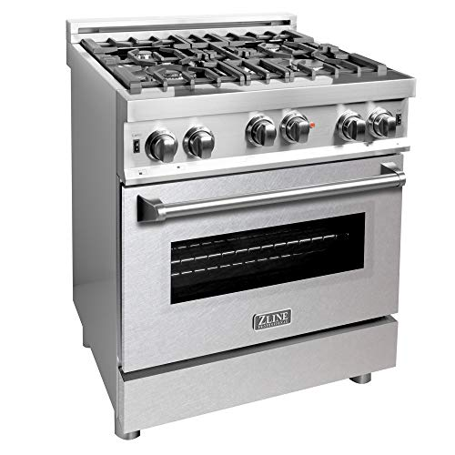 ZLINE 30 in. Professional Gas on Gas Range in Stainless Steel with Snow Stainless Door (RG-SN-30)