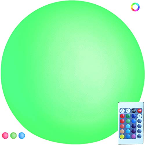 SWEETIME Night Lights for Kids Rechargeable LED Ball Orb Glow Light, Floating Pool Lights 8 inch,16 RGB Color Changing Orb Bedside Lamp, Glowing orb Light for Holiday Decoration and Gift. -