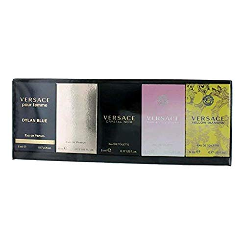 Versace Mineatures Collection For Women 5pc Set 5x5ml(Crystal N+Yellow D+Bright C+Dylan B+Pour Femme)