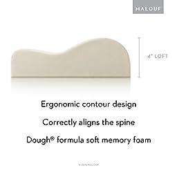 Z Memory Foam Contour Pillow - Luxurious Washable Cover - Queen