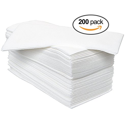 California Home Goods   200 Pack   Linen Feel Disposable Guest Hand Towels  12 quot  x 17 quot  Folded  Soft Cloth Like Absorbent Paper Napkins for Dinners  Parties. Paper hand towels decorative   Trenters com