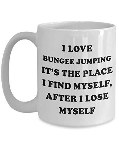 Extreme Sport Gifts For Women And Men - Coffee Mug For Bungee Jumping Practitioners And Fans/Hobbyists, Bungee Jumping Cup, Ceramic
