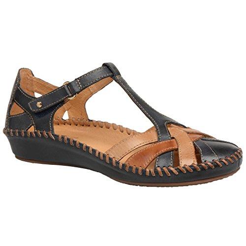 Pikolinos Womens Puerto Vallarta 655-0732C5 Navy Blue Leather Sandals 38 EU by Pikolinos