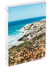 HMF 4697 Magnetisk fotoram av akrylglas | Flera storlekar | Transparent 10 x 15 cm transparent