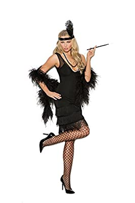 Women's Sexy Fringed Flapper Cosplay Costume Set