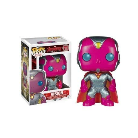 Funko Pop Marvel Avengers Age of Ultron Vision Metallic Exclusive Vinyl Bobblehead Figure -
