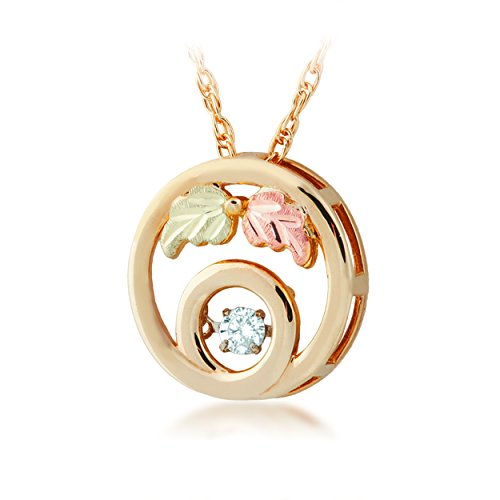 - Black Hills Gold Circle Pendant with Twinkle Diamond
