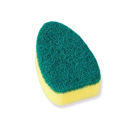 Sale Sponge Replaceable Couring Pad Washing Convenience Cleaning Brush Scrubber Kitchen Soap Dispenser Dish With Refill Liquid head-1PC