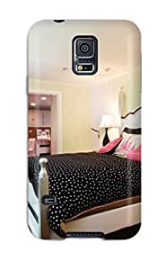 New Arrival Cover Case With Nice Design For Galaxy S5- Pink And Black Bedroom With Green Painted Walls And Decal Chandelier