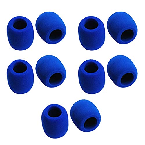SM SunniMix 10 Pieces Foam Microphone Windscreen - Mic Cover Pop Filter for Condenser - Windscreen 10