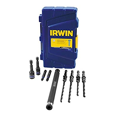 IRWIN 1881131 Impact Performance Series Concrete Screw Drill-Drive Installation Set with Pro Set Case for 3/16-Inch and 1/4-Inch Screws, 9-Piece