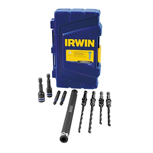 IRWIN 1881131 Impact Performance Series Concrete Screw Drill-Drive Installation Set with Pro Set Case for 3/16-Inch and 1/4-Inch Screws, -