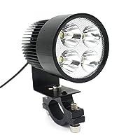 LEORX 12V-80V 20W Motorcycle E-bike LED Headlight Lamp Car Accessories (Black)