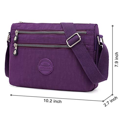Multi Women Bag by Nylon Travel Purse Crossbody Hobo Shoulder Bags for Purple bag Pocket STUOYE Iwq7CgAC