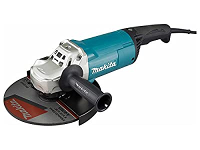 Makita GA9060R 9 Inch (230mm) Angle Grinder, with No Lock-On Switch , 6600 RPM , 15 AMPS/ 220 Volt 60 Hz , Europe C Type Plug