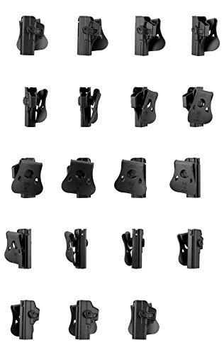 IMI Defense Z1010 Linke Hand Tactical verstellbar drehbar drehung Pistole holster für Glock 17/22/28/31/34 Gen 4 Kompatibel verdeckte Trage POLYMER Taktik ROTO Pistolenhalfter