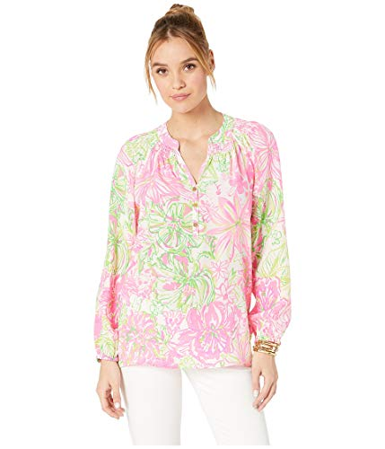 Lilly Pulitzer Women's Elsa Top, Resort White Kohala Me Maybe, S