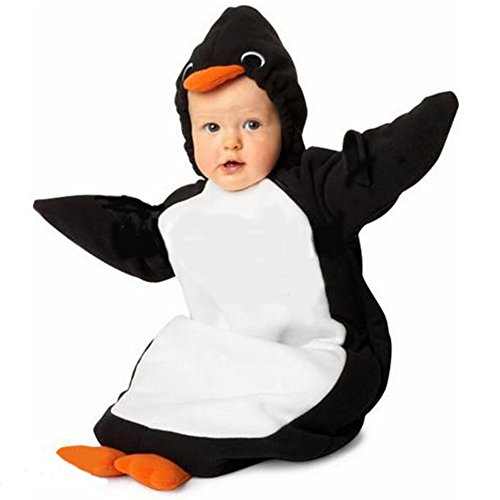 Infant Newborn Baby Boy Girl Penguin Halloween Costume Fits 0-6 Months (0-6 Months) ()