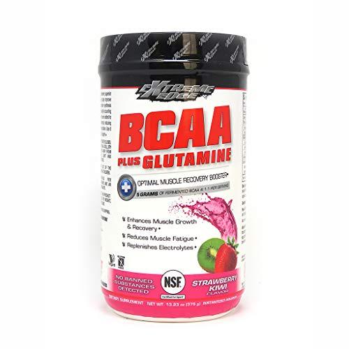 Bluebonnet Nutrition Extreme Edge Bcaa + Glutamine Powder, Strawberry Kiwi, 13.23 Ounce