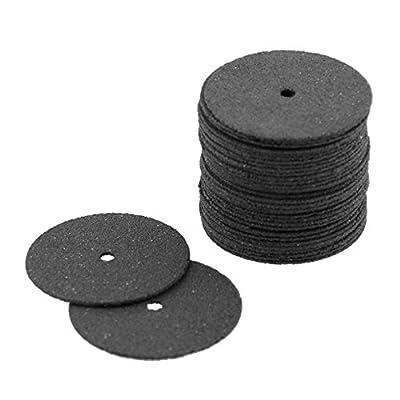 Fiberglass Reinforced Cutting Disc Cut Off Wheel for Dremel Rotary Tool 36Pcs/Set Black Disc 24mm Abrasive Tools -Pier 27
